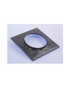 Burgerhout Aluminium muurplaat 125 mm zwart